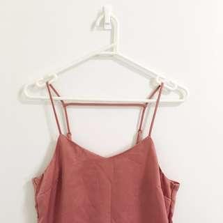 Rose pink slip dress size 6