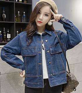 Denim Button Up Jacket 095748 FM