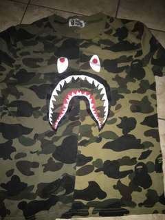 Green Bape Shark Shirt