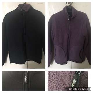 Baleno Black/Violet Thick Reversible Jacket