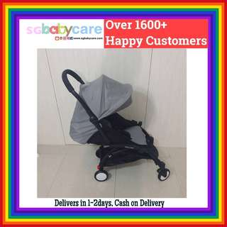 FREE DELIVERY Full Recline Cabin Stroller - Grey