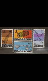 Singapore stamps 1969 drums mint 4v up to $5 (gum faults)
