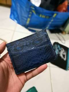 Card Holder - Snake Skin Authentic