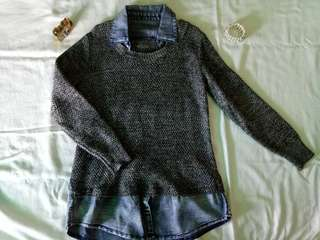 knitted denim top