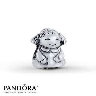 Sterling Silver Girl Pandora Charm - Antique