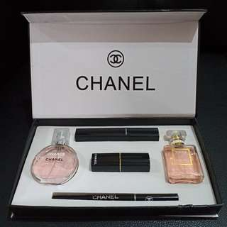 (RAMADHAN SALE) CHANEL BOX SET 5 IN 1 ORIGINAL CHANCE CHANEL COCO CHANEL