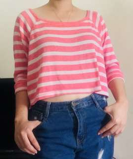 Pull and bear semi crop top