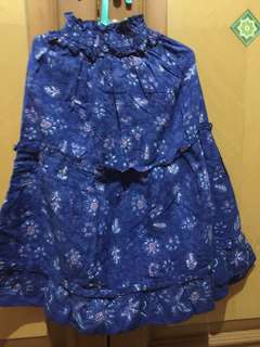 #MakinTebel Preloved Rok Batik navi