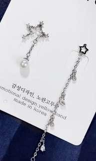 韓國飾物 手星星 耳環
