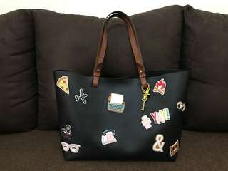 Rachel Tote Sticker black