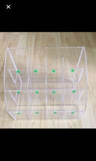 CLEARANCE SALES {Stationary - Organizer} Pre-owned 12 Compartments Transparent Display Stand/Organizer