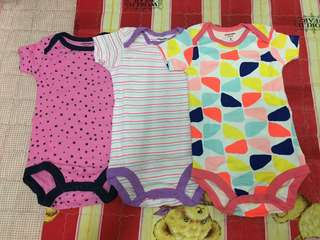 Carter's Rompers 3pcs 3month