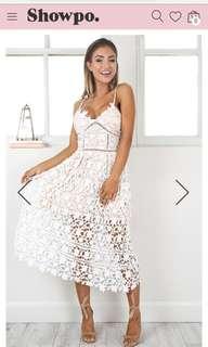 Showpo White lace daylight dress