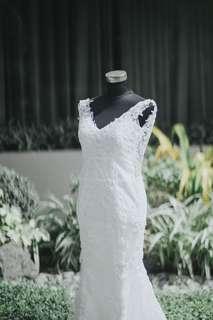 Wedding gown (mermaid style)