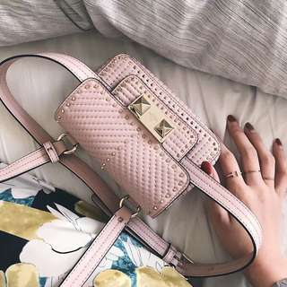 Valentino zigstud sling bag and belt bag