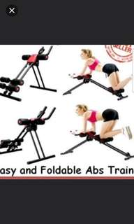 Vertical abs Cruncher Easy and Foldable ★Trainer Workout Bench Indoor ★ Home Gym Foldable
