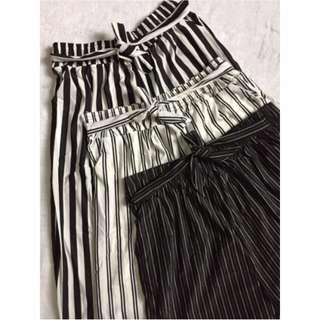Long Full Length Striped Square Pants