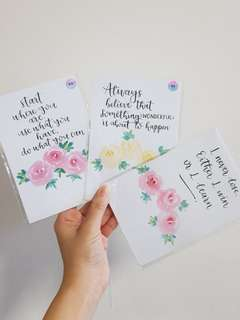 [SALE][INSTOCK] Watercolour roses with calligraphy quotes