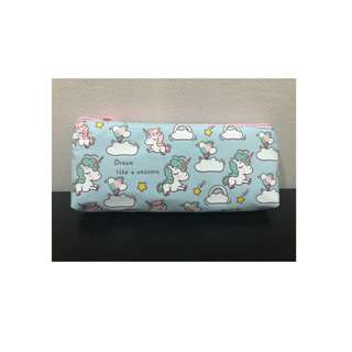 Unicorn Pencil Case in Blue
