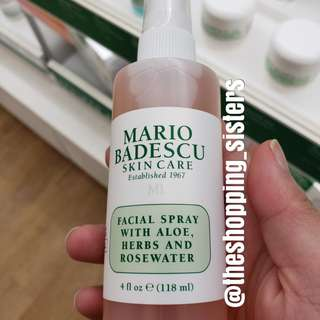 Mario Badescu rose water facial spray 4 fl. Oz