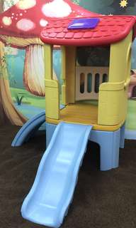 Playhouse with a slide