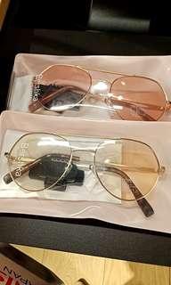 Kacamata Bershka / sunglasses aviator PINK