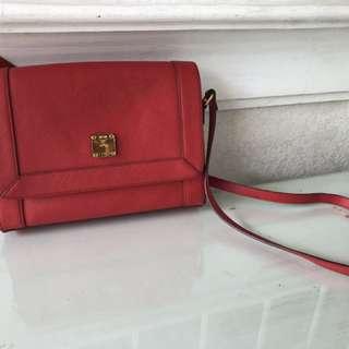 MCM Red Body Bag Sling