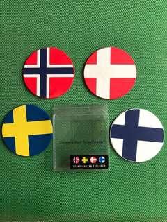 Coasters from Scandinavian