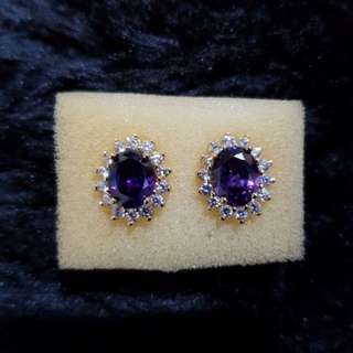 Swarovski Purple Stud Earrings