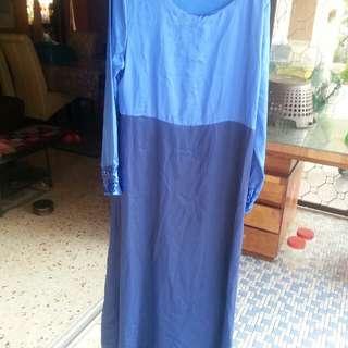 Abaya Blue no Cutting
