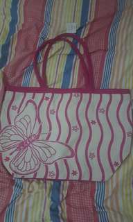 Butterfly pinky large Bag with tag