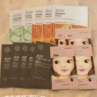 The Face Shop: assorted face masks, nose strips and eye masks