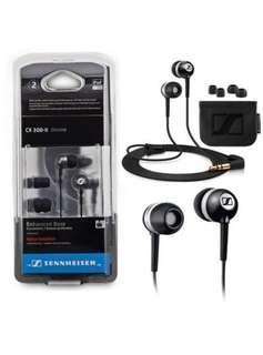 BN Sennheiser CX 300-II chrome earpiece