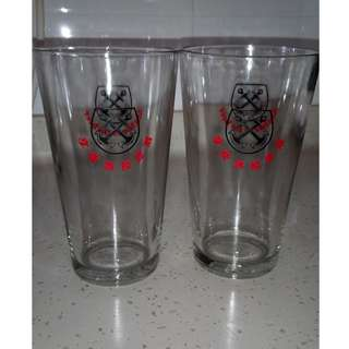 Vintage Anchor Beer Glasses  A Pair