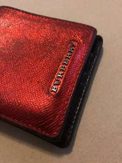 *SALE* Authentic Burberry Bi-Fold Wallet in Metallic Red