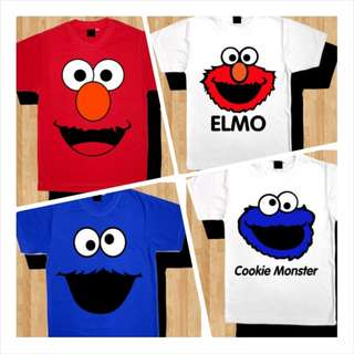 Elmo Cookie Monster tshirt