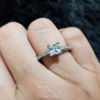 Square Engagement Ring (Size 6)