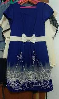 dress warna navy