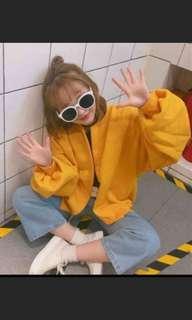 🚚 黃色鋪棉外套