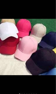 🚚 純色棒球帽(粉色)