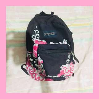 AUTH Black and Pink Jansport Backpack 💕