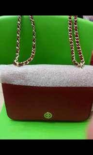 Tory burch 紅色robinson adjustable shoulder bag