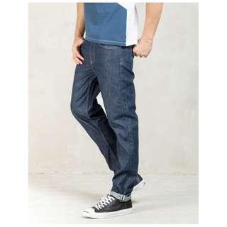 32腰 Levis 522 Slim Taper 深藍丹寧原色 上寬下窄 錐形窄管窄版 牛仔褲 二手古著潮流 長褲