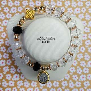 Crystal Plastic Rosary Bracelet
