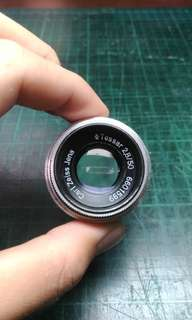 從werra底片相機殺下來的 tessar 50mm 2.8 carl zeiss 鏡頭 復古相機 m42口(不包含轉接環)