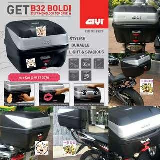 0606-- GIVI BOX B32 BOLD new model 😆😆😆 (YAMAHA SPARK,JUPITER, HONDA, SUZUKI)