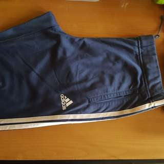 Adidas Track Pants Blue Grey 32-34
