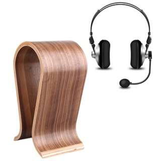(404)U-Shaped Wooden Headphone Display Stand Holder for Universal Headset
