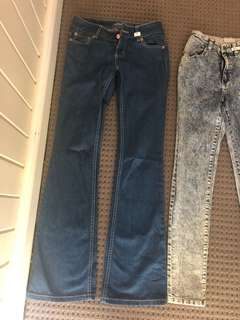 Blue Flare Jeans Low Rise