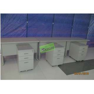 OFFICE TABLE SET MOBILE PEDESTAL CABINET & KEYBOARD TRAY